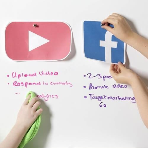 Magnetisk whiteboardtapet för lagarbete