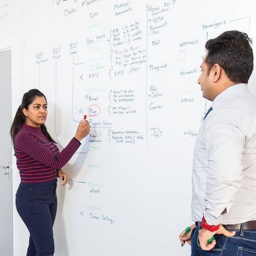 En whiteboardtapet med lägre glans för designanvändning