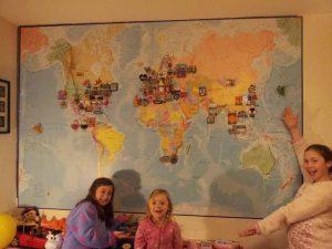 magnetisk och transparent världskarta