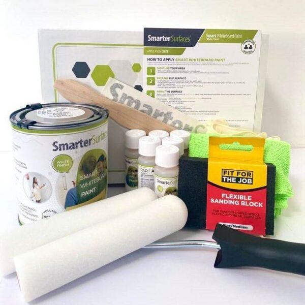 Whiteboardfärg, förpackning och innehåll