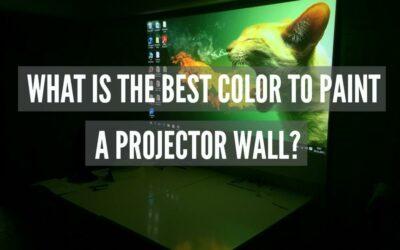 Vad är den bästa färgen för att måla en projektorvägg?